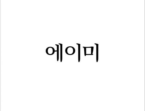 [월간 소묘] 2019년 십일월의 편지 – 에이미